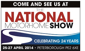 National Motorhome Show Peterborough April 2014