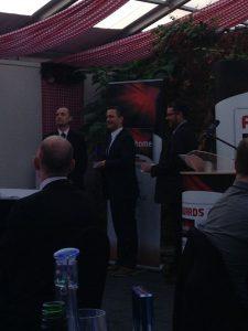Ross Edwards accepts Niesmann + Bischoff Luxury Motorhome award winner MMM 2014