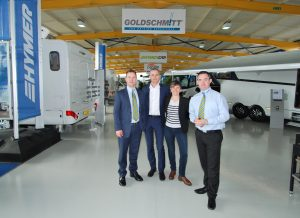 Hymer Representatives open the new Travelworld Motorhomes showrooms