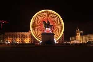 Lyon at night France