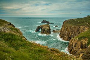 Cornwall cliffs and sea