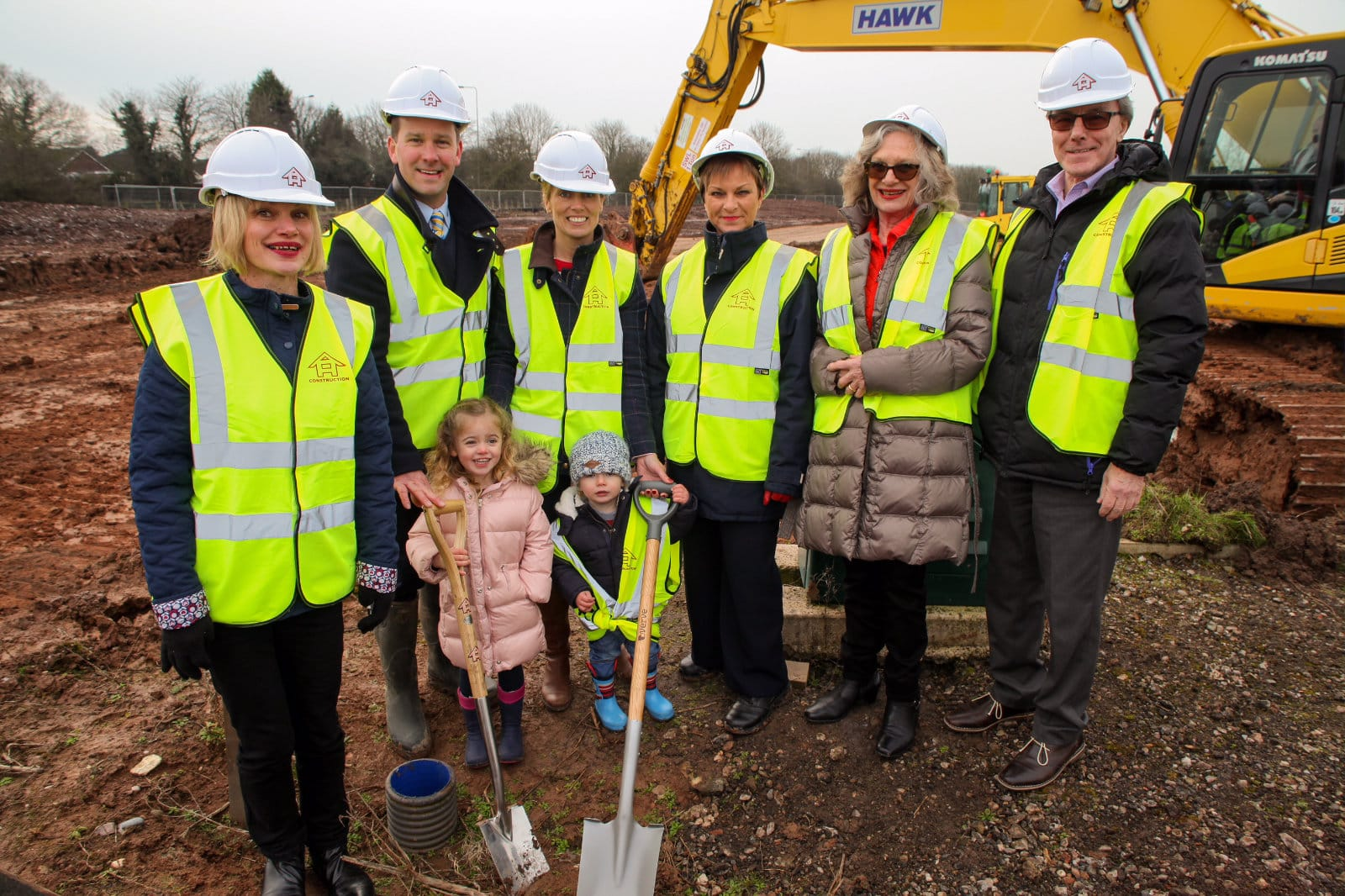 Turf cutting by The Edwards family at the site of Travelworld