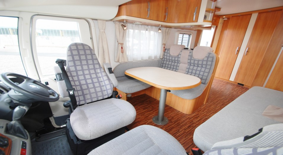 Motorhome interior point of view