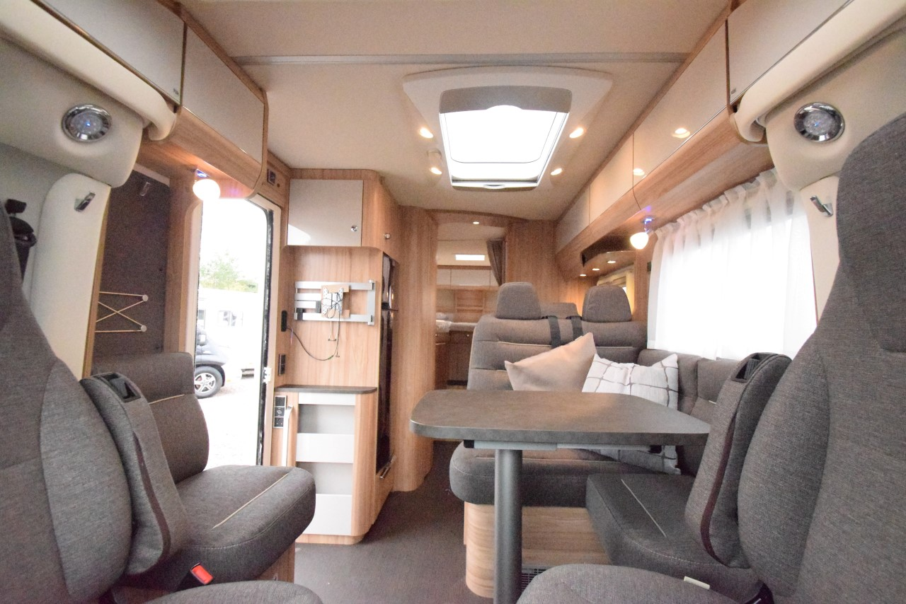 Hymer Exsis-t 678 interior lounge area
