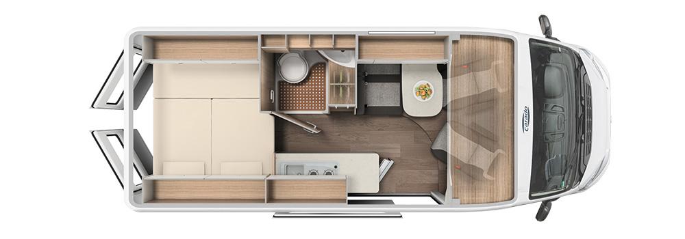 VE Vlow motorhome floor plan