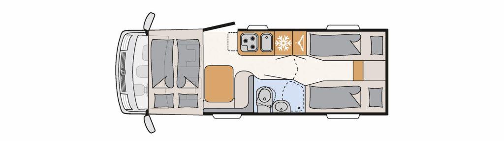 Floorplan Globebus I6