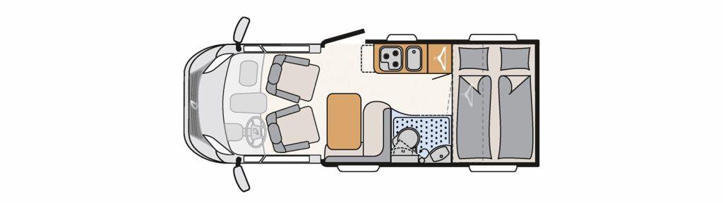 Floorplan Globebus t1