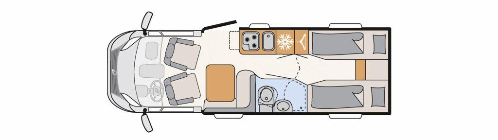 Floorplan Globebus t6