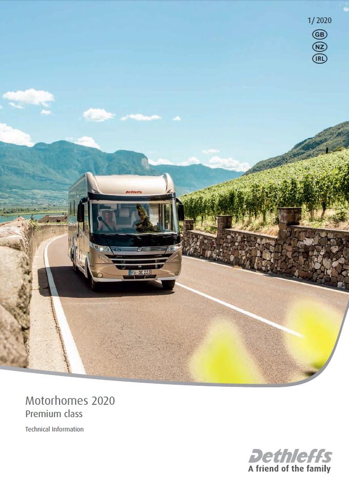 Dethleffs Technical Information Motorhomes Premium Class 2020