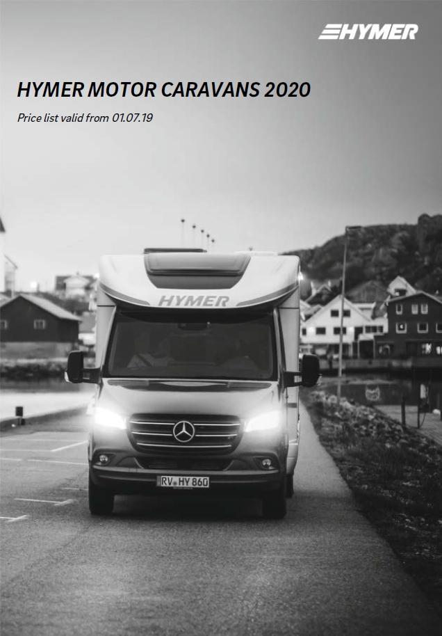 HYMER Reisemobile Preisliste GB 1 Auflage 2020