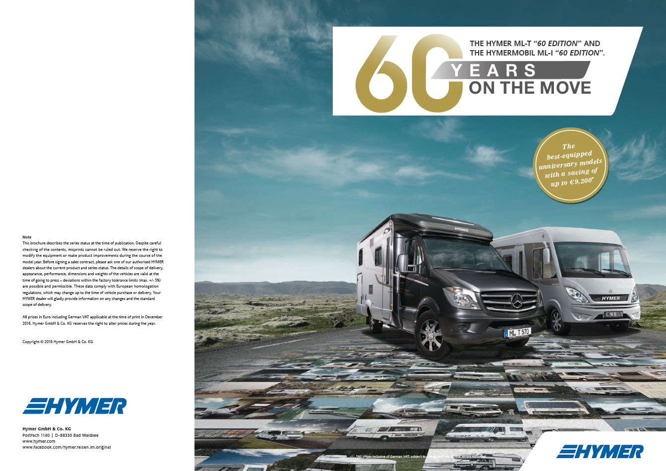 "Hymer ML-T ""60 Edition"" & Hymermobil ML-l ""60 Edition"""