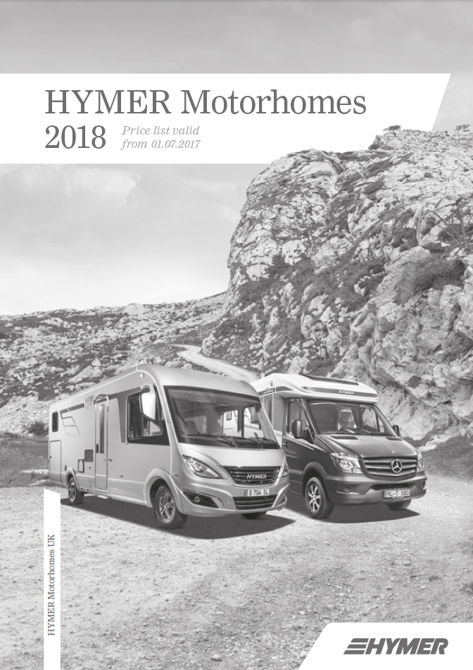 Hymer Motorhomes 2018 Specifications