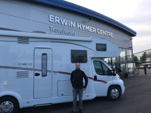 Scott Beaumont at Erwin Hymer Centre Travelworld