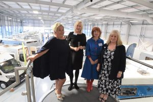Sara Williams, CEO of Staffordshire Chamber of Commerce, Rachel Lowe, of Brook Street Recruitment and Maxine Booth, training assessor at Intec Business Colleges and Carol Huggins of Erwin Hymer Centre Travelworld