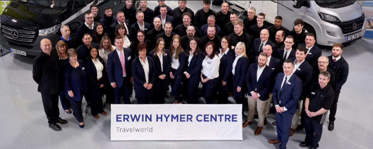 Erwin Hymer Centre Travelworld team pictured