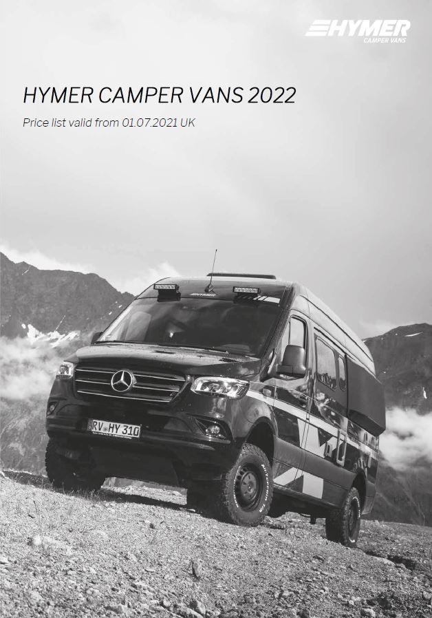 HYMER Camper Van Price Lists 2022