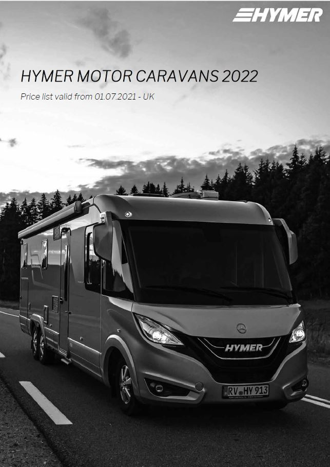 HYMER Motorhomes Price Lists 2022